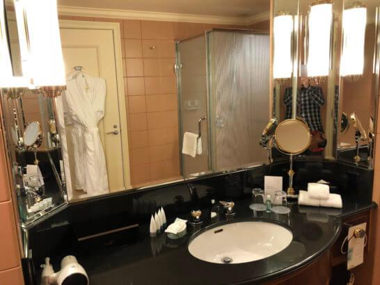 ウェスティンホテル東京のデラックスルームの洗面台