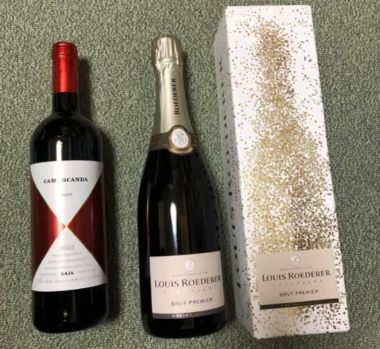 エノテカで買った赤ワイン・シャンパン