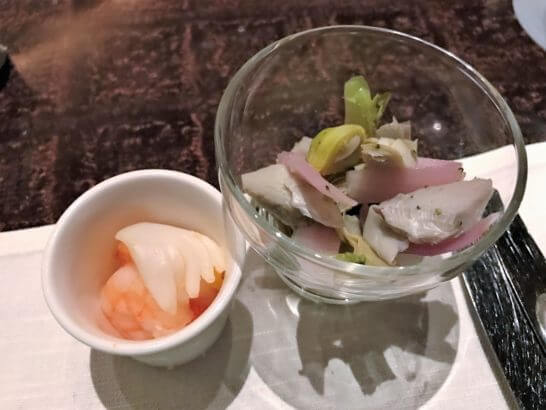 ウェスティンホテル東京のザ・テラスのディナー (オードブル) (2)