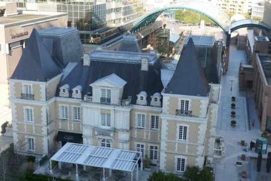 ウェスティンホテル東京の客室内からの眺め