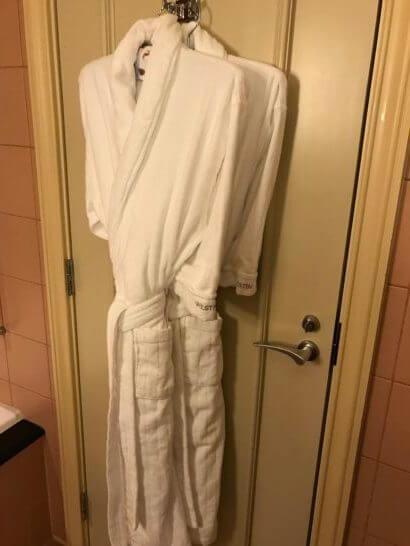 ウェスティンホテル東京のバスローブ