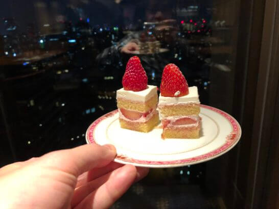 ウェスティンホテル東京 エグゼクティブ クラブラウンジのショートケーキ