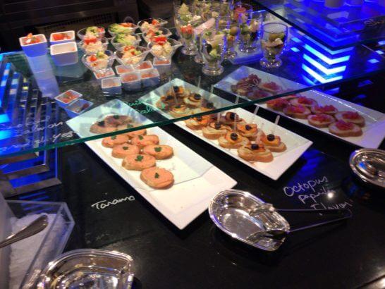 ウェスティンホテル東京のザ・テラスのディナー (オードブル)