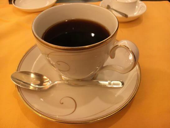 横浜ベイシェラトンホテルの彩龍のコーヒー