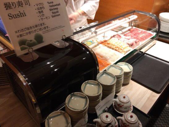 ウェスティンホテル京都のビュッフェの握り寿司コーナー