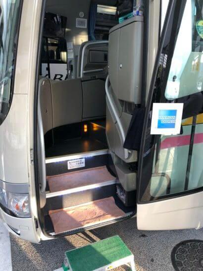 アメックスの醍醐寺のイベントの送迎バスの入り口