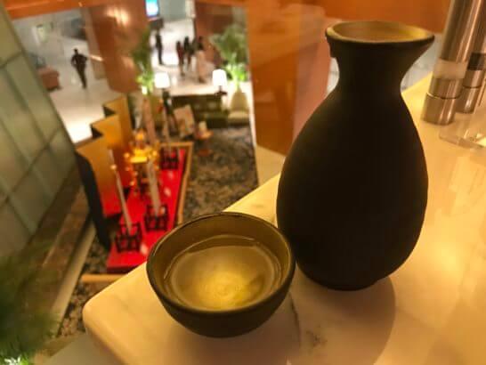 ウェスティンホテル京都のアクアブルーの日本酒