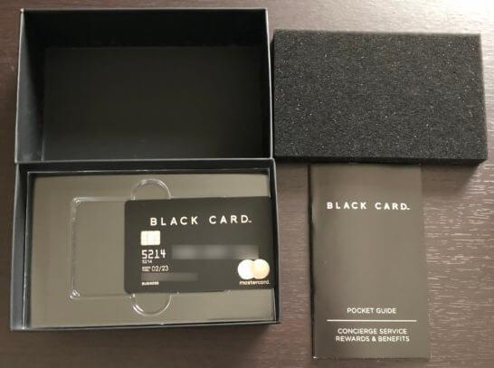 ラグジュアリーカード(ブラックカード)一式