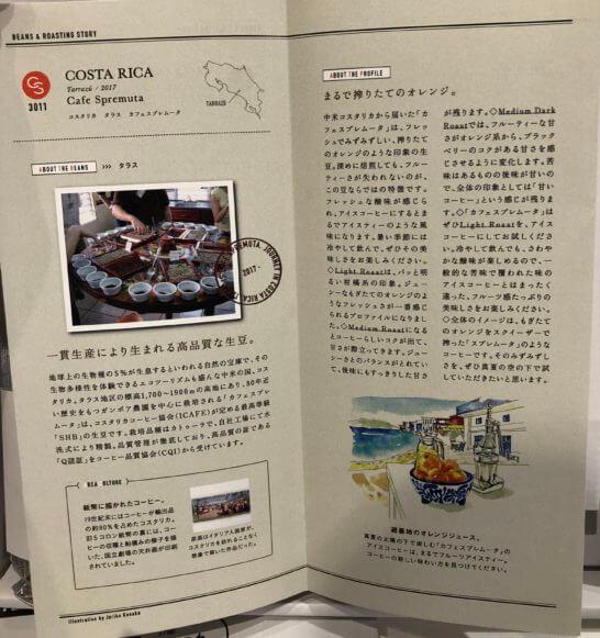 The Roastの生豆の説明
