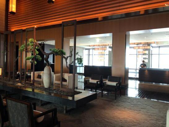 マンダリンオリエンタルホテル東京のフロント