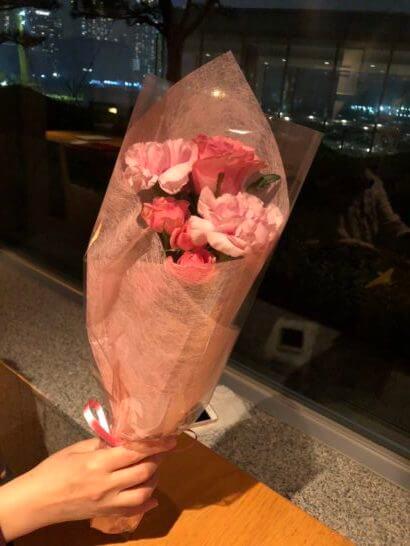 ホテル インターコンチネンタル 東京ベイの分とく山の花束