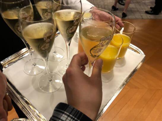LA LISTE日本最優秀レストランを祝うレセプションのウェルカムドリンク