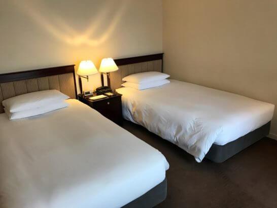 ハイアットリージェンシー東京のツインルームのベッド