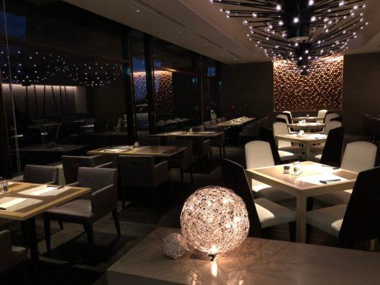 ヒルトン小田原のメインレストランのVIPゾーン