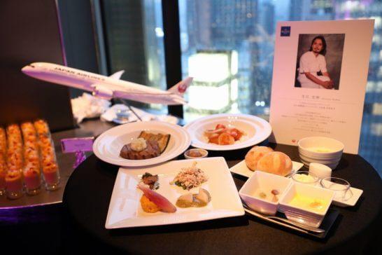 JAL国際線ファーストクラスの料理 (洋食)
