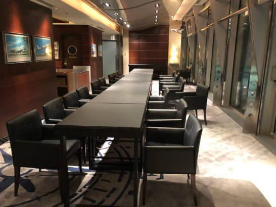 ペニンシュラ東京のセブンシーズのテーブル