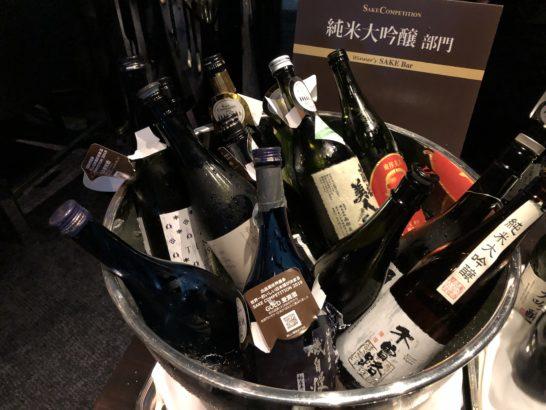 SAKE COMPETITION 2019 授賞パーティーの日本酒(純米大吟醸部門)