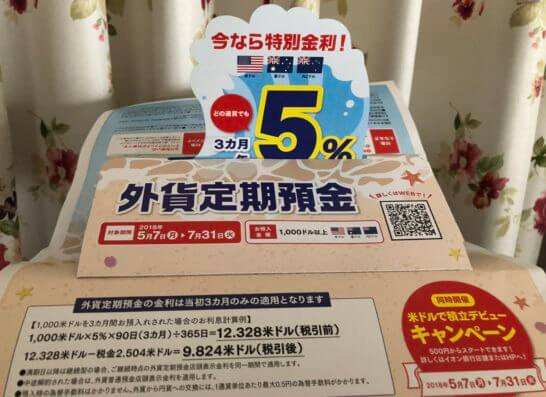 イオン銀行の外貨定期預金キャンペーン