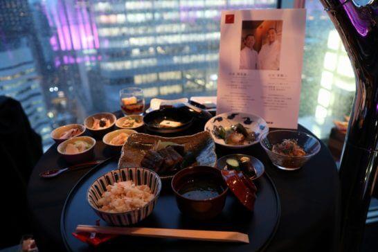 JAL国際線ファーストクラスの料理(和食)
