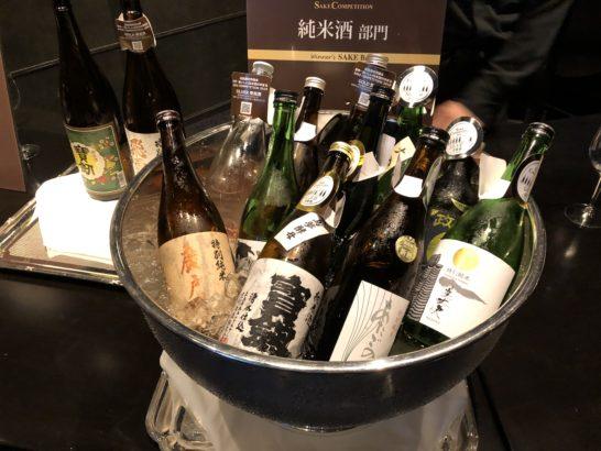 SAKE COMPETITION 2019 授賞パーティーの日本酒(純米酒部門)