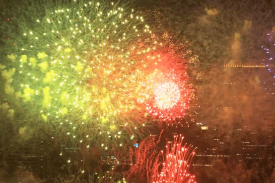 東京湾大華火祭観覧ディナーリザーブシートの花火