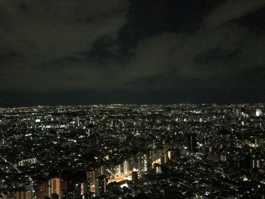 パークハイアット東京の部屋からの夜景