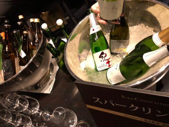 SAKE COMPETITION 2018 授賞パーティーの日本酒(スパークリング部門)