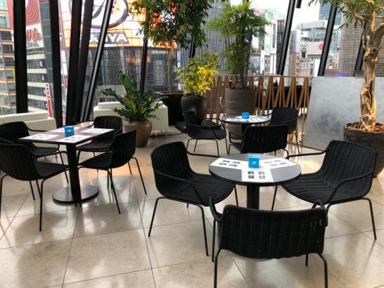 アメックス銀座ラウンジ(THE GREEN Cafe American Express × 数寄屋橋茶房)の席 (4)