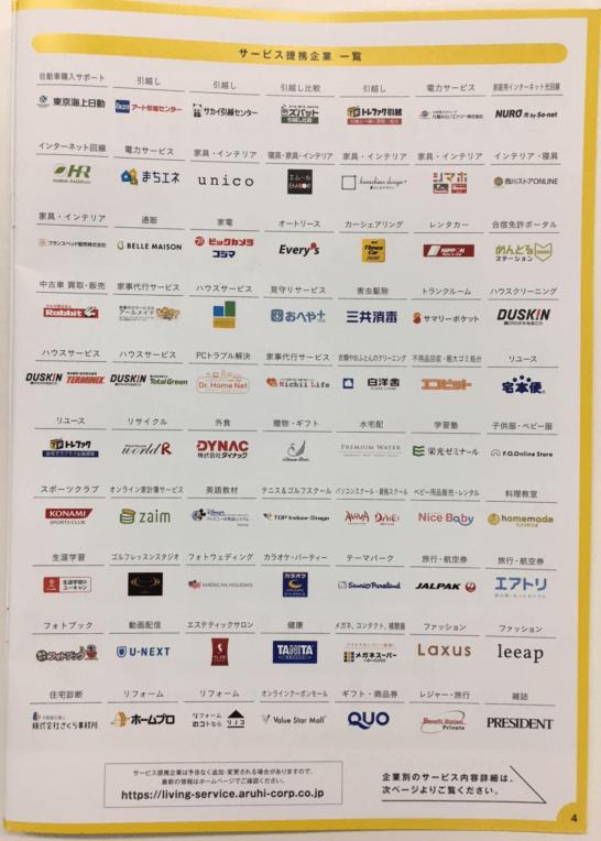 ARUHI 暮らしのサービスの提携企業一覧