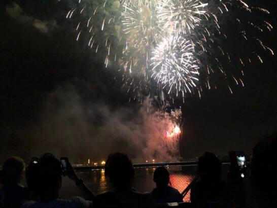 アメックスの横浜花火大会の花火 (7)