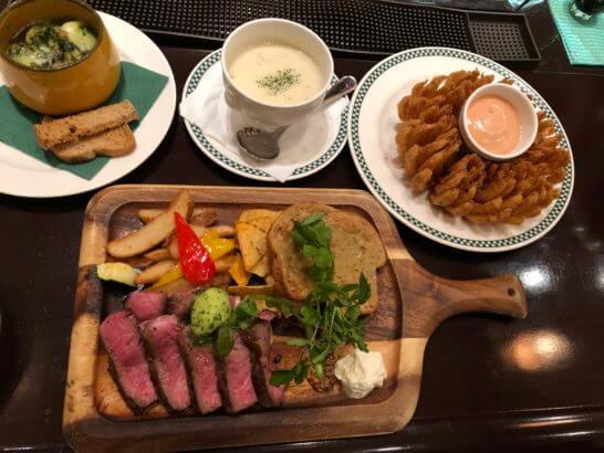 USJのレストランの料理