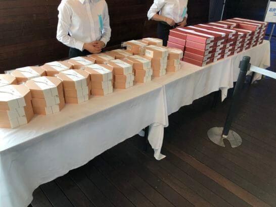 アメックスの横浜花火大会のお弁当コーナー