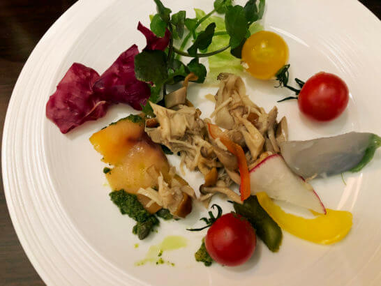 横浜ベイシェラトン ホテルのクラブラウンジの前菜