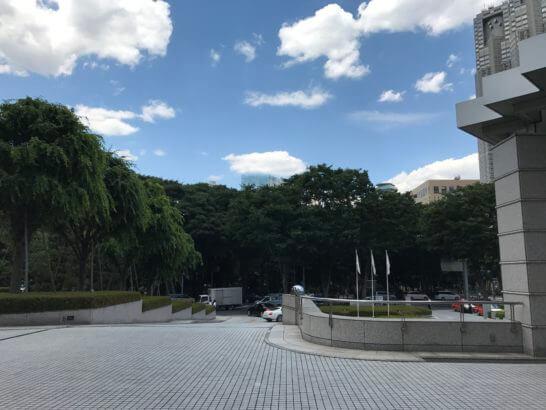 パークハイアット東京の玄関