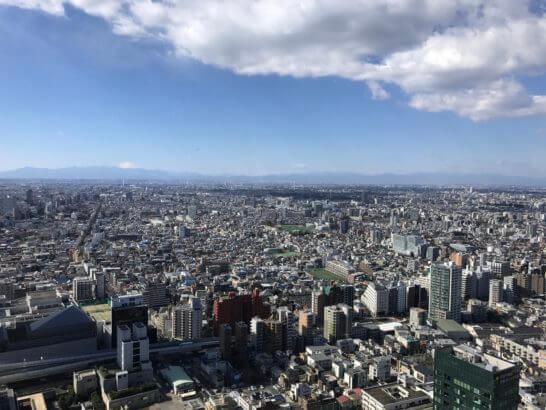 パークハイアット東京の日本料理 梢 (こずえ)からの景色