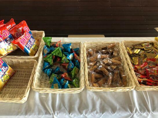 アメックスの横浜花火大会のお菓子類
