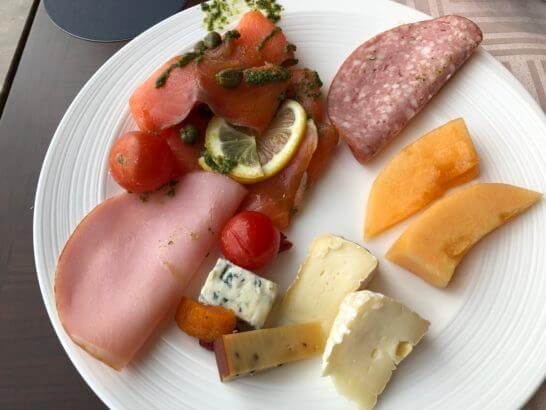 横浜ベイシェラトン ホテルのクラブラウンジの朝食(コールドミール)