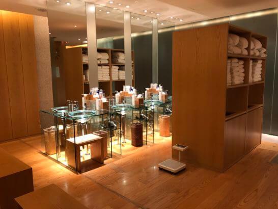 グランドハイアット東京のNAGOMI SPA & FITNESSの更衣室