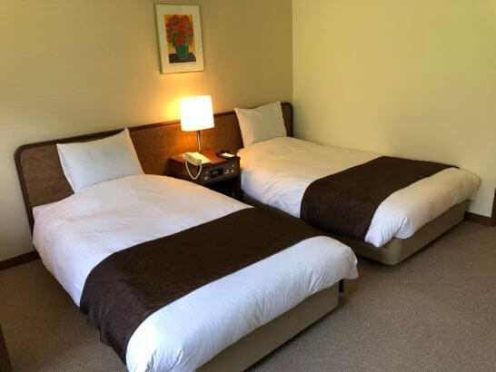 上高地ルミエスタホテルのベッド