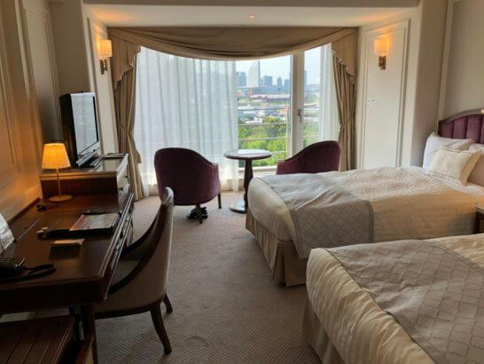 ホテルニューグランドのツインルーム