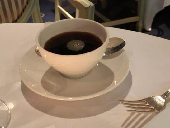 ホテルニューオータニのベッラ・ヴィスタのコーヒー
