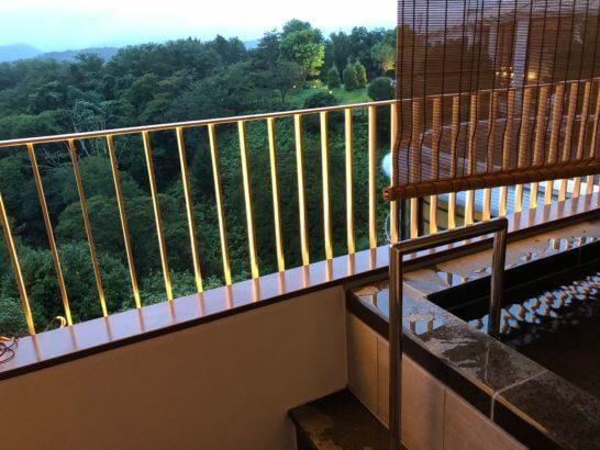 伊豆マリオットホテル修善寺の客室露天風呂