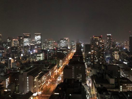 セントレジスホテル大阪の客室からの夜景