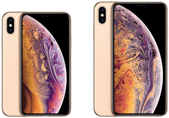 iPhone XS、XS Max(ゴールド)