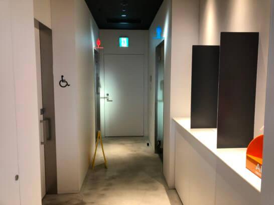 羽田空港のパワーラウンジ ノースのトイレ