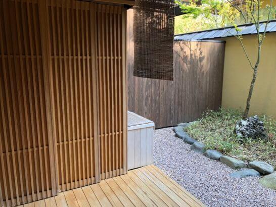 翠嵐ラグジュアリーコレクションホテル京都の客室露天風呂