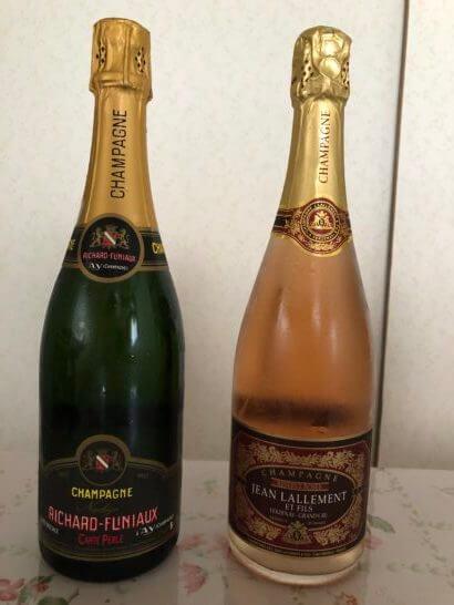 フィラディスで購入したシャンパン、ロゼシャンパン