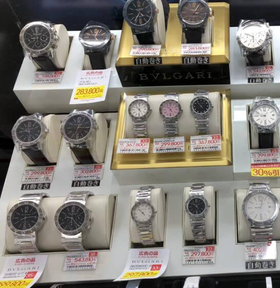 ビックカメラの時計売り場