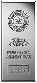 銀100ozバー