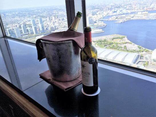 横浜ロイヤルパークホテルのシリウスのワイン